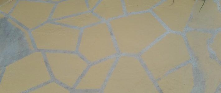 Am găsit cum să vopsesc betonul